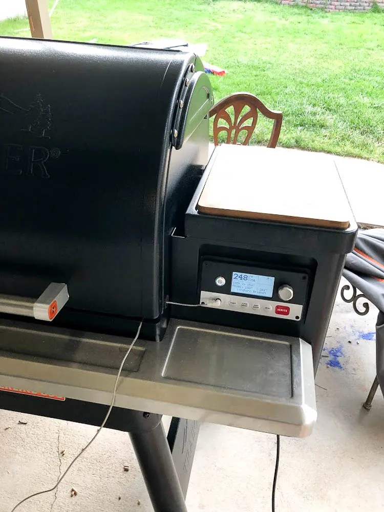 smoked brisket temp