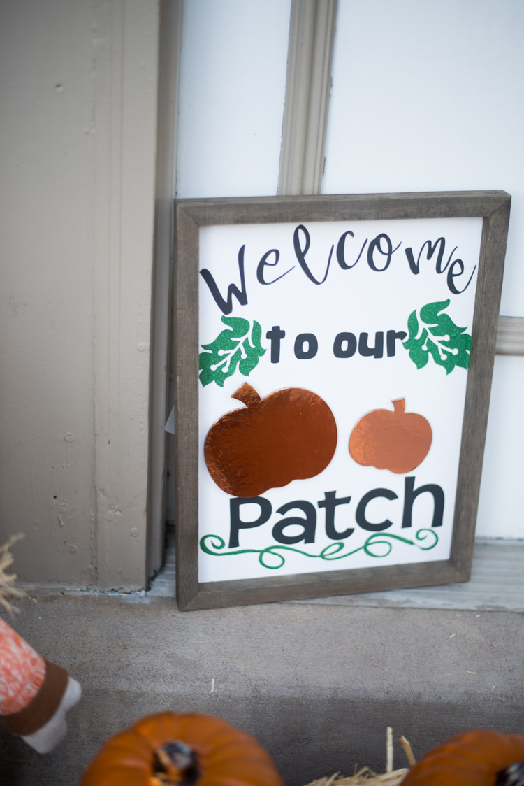 welcome to our porch sign on porch
