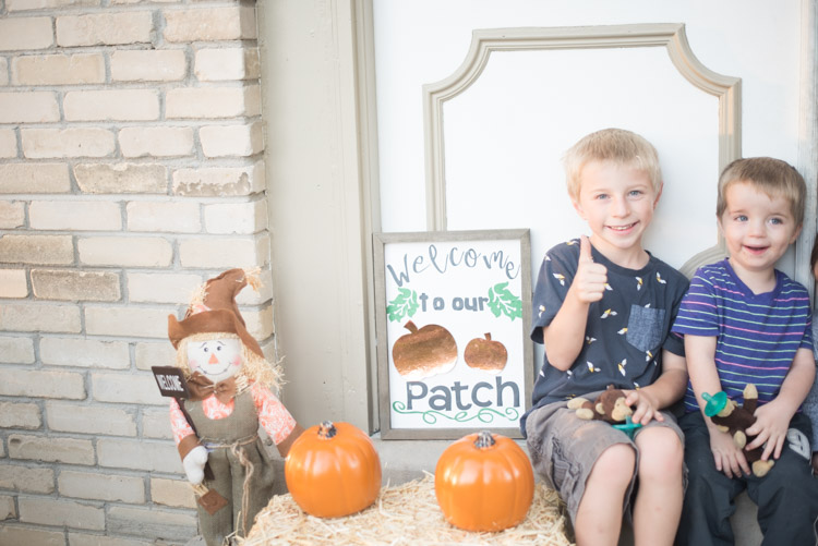 little boys on front porch