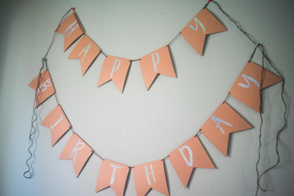 Easy DIY birthday Banner