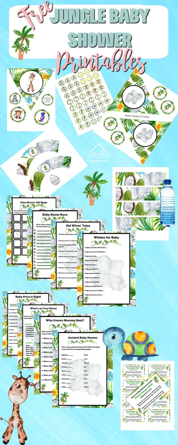 Jungle Themed Baby Shower Free Printable Games Invitations And Decor