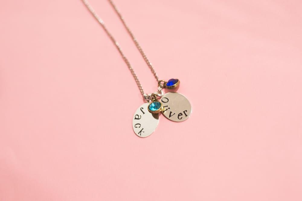 diy mongrammed necklace