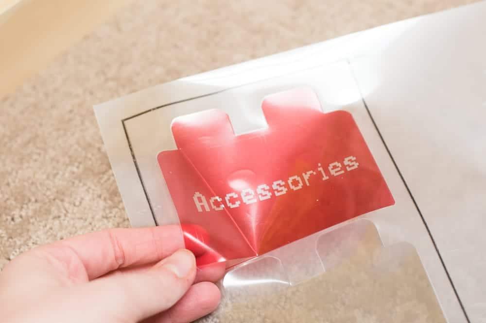accessories sticker for lego