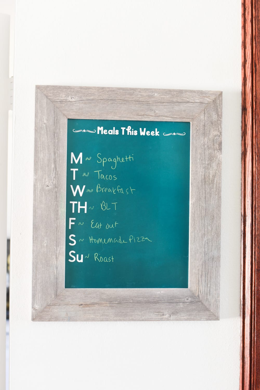 diy dry erase menu board