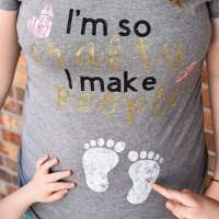 DIY Funny Pregnancy Shirt - Free Cricut File