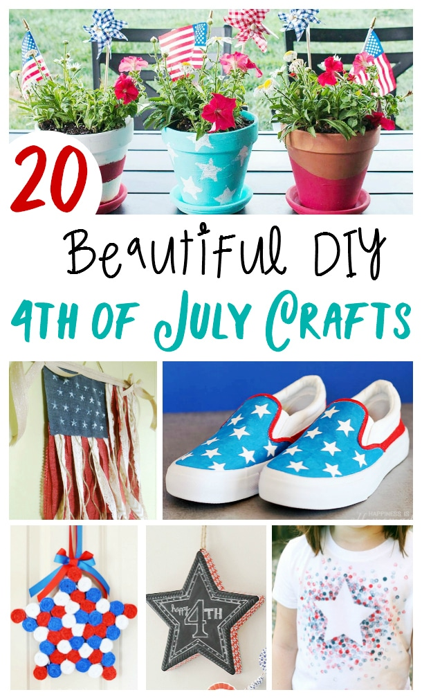 20+ Fourth of July Crafts Anyone Can Make via @clarkscondensed