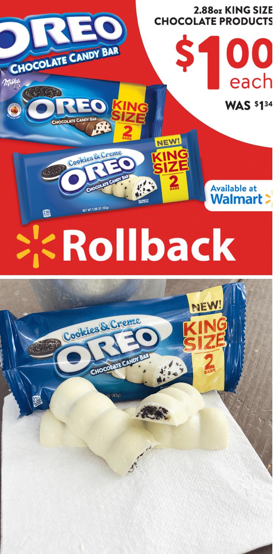 #OREOChocolate, #CookiesandCreme, #KingSizeRollback, #IC #ad via @clarkscondensed