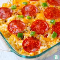 Tater Tot Pizza Casserole Freezer Meal