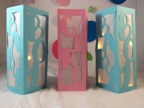 DIY Baby Shower Centerpieces