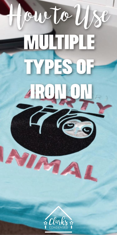 Types of iron on
