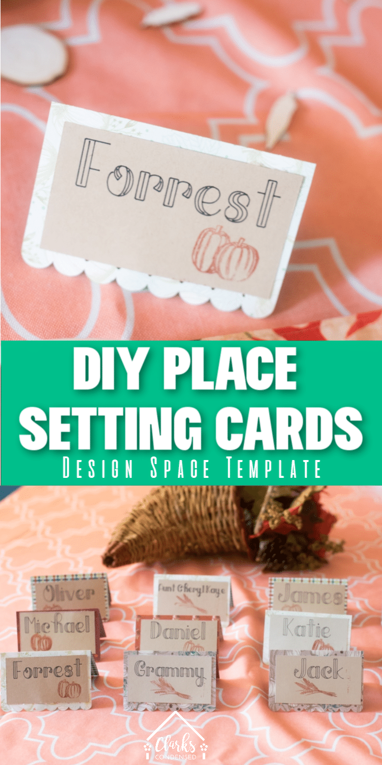 DIY Place Setting Cards