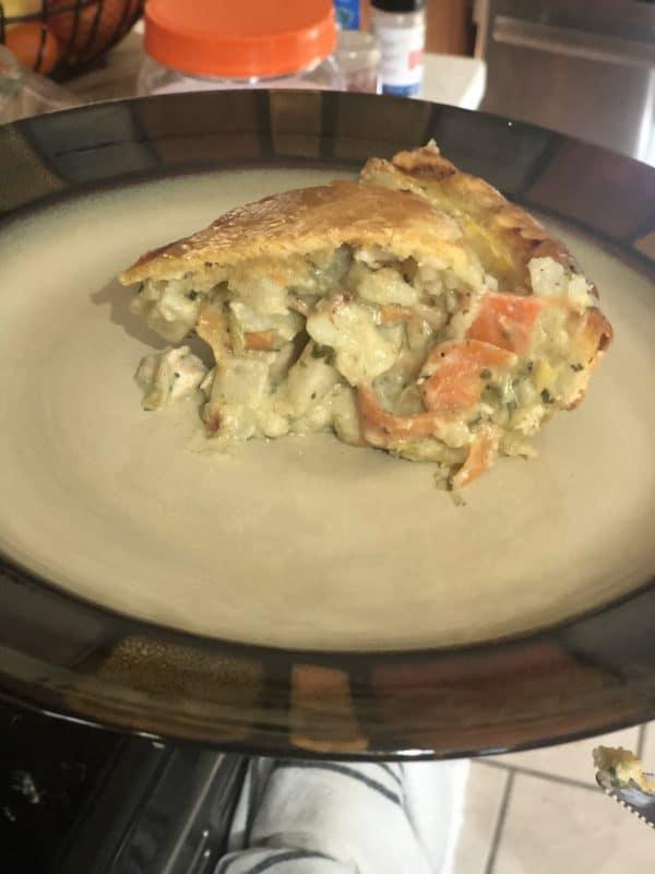 Closeup of a stuffed pie