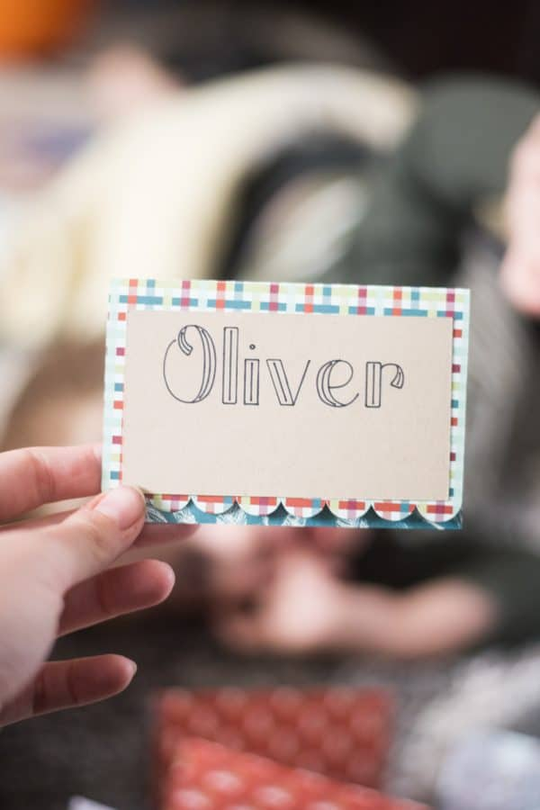 """Card named \""""Oliver\"""""""