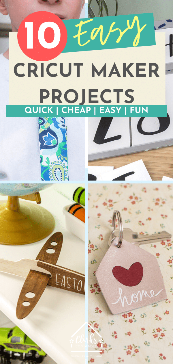 Cricut Maker Collage of Crafts