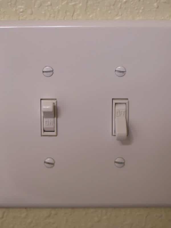 clean light switch