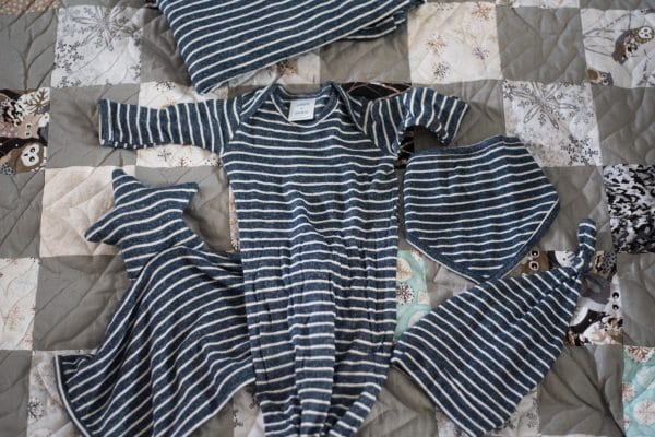 Striped pattern baby clothing