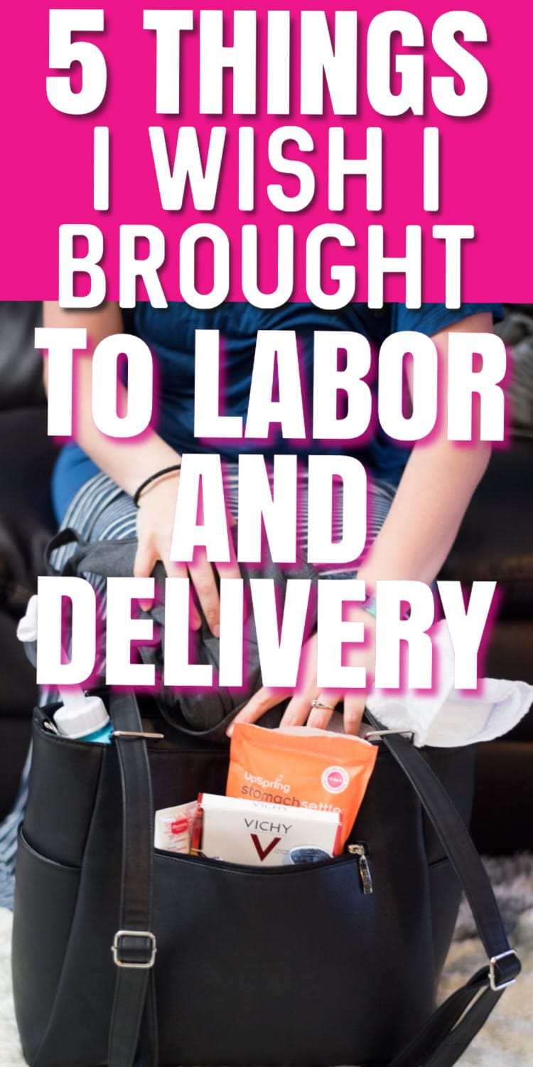 What I Wish I had Packed in My Hospital Bag for Labor and Delivery - tips for a hospital birth. via @clarkscondensed