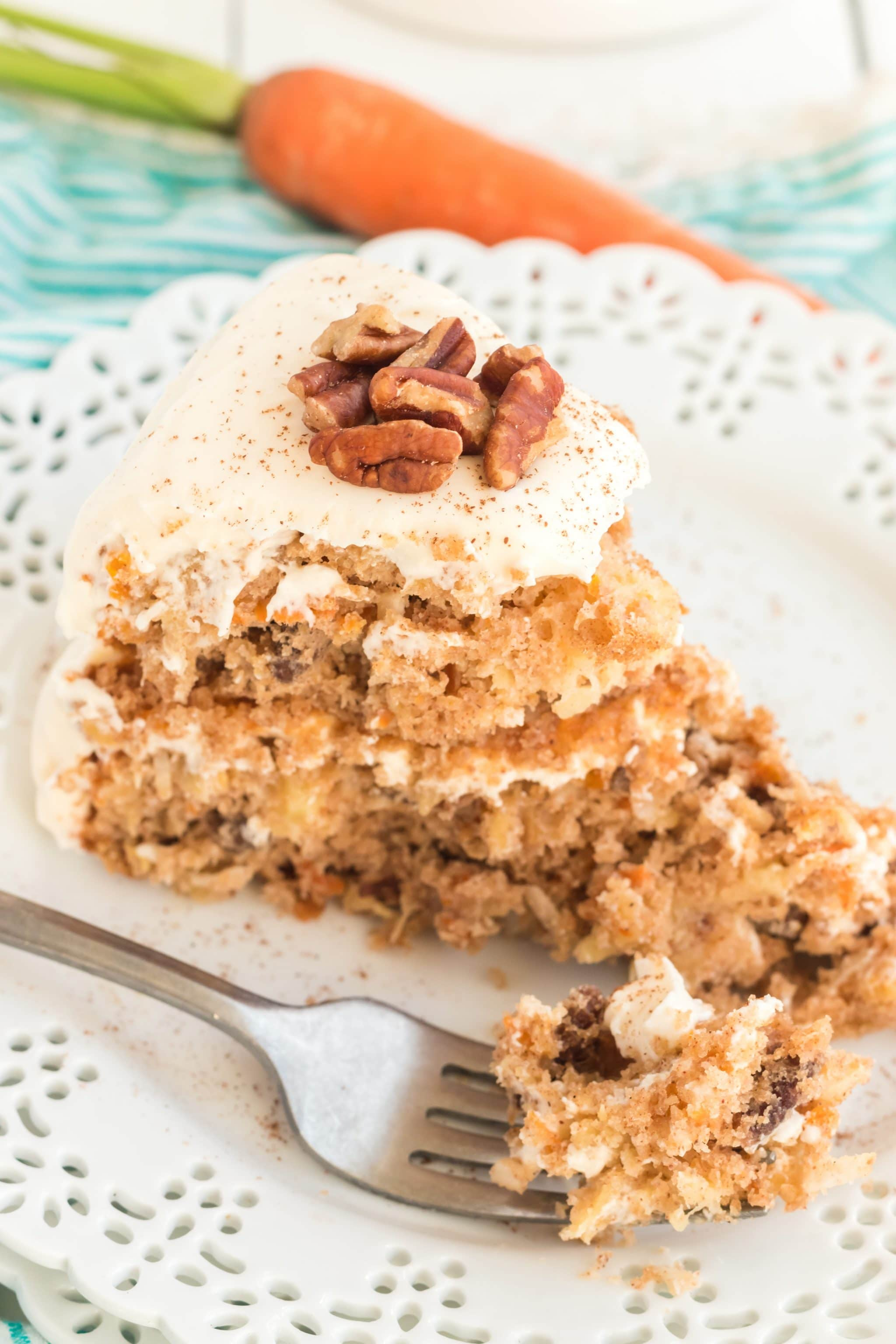 carrot cake made with spice cake mix