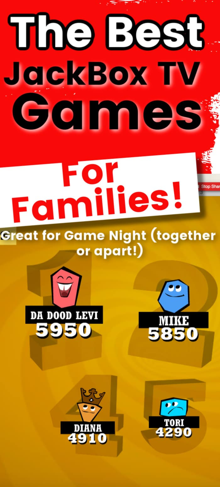 JackBox TV has so many fun games that you can make family game night even better! Not all of them are appropriate for all ages, though. Here are our favorites - and a list of any that have a family friendly filter! via @clarkscondensed