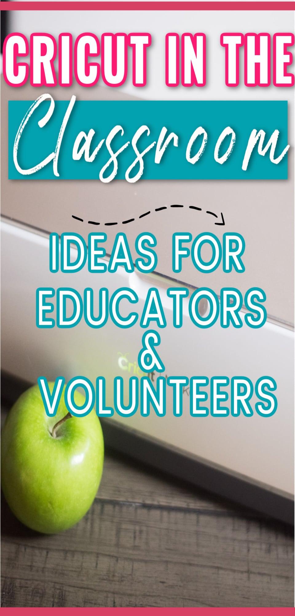 Cricut in the Classroom: Tons of ideas for teachers, volunteers, and more. #cricut #cricutmaker #cricutmade #cricutcreated #school #teacher via @clarkscondensed