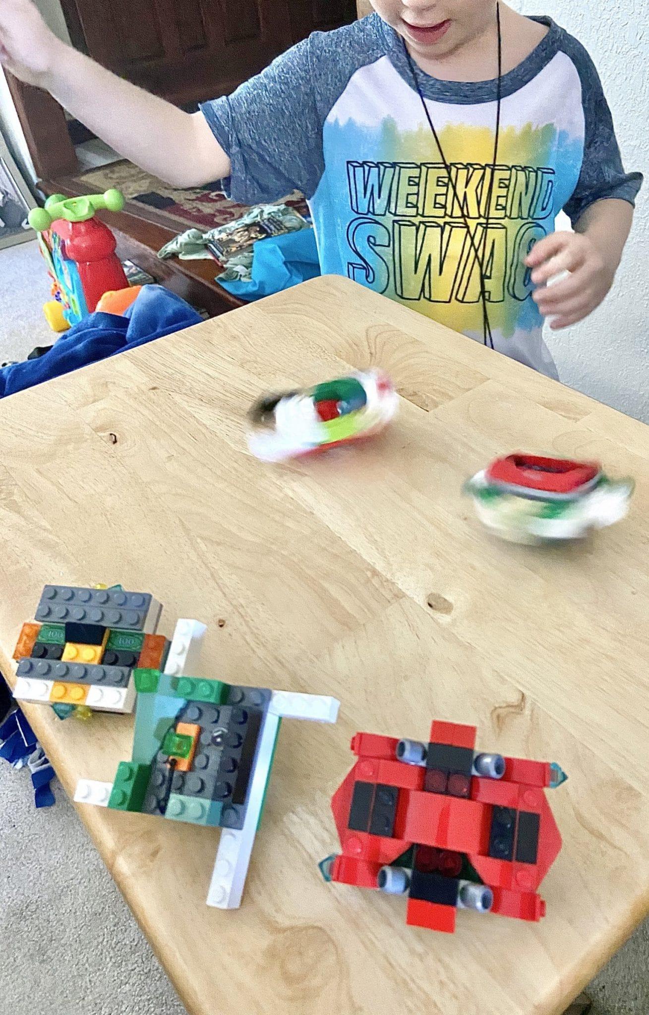 battling lego beyblades
