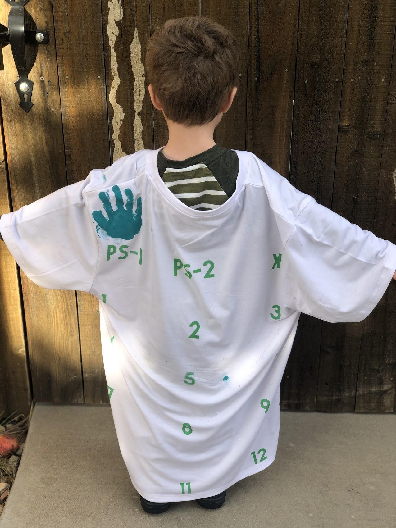 cricut handprint shirt