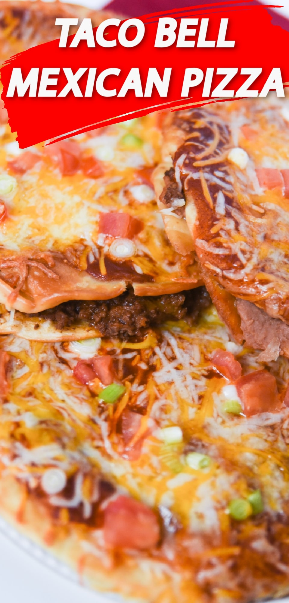 This copycat Taco Bell Mexican Pizza recipe is even better than the original. They are super easy to throw together and taste totally delicious. Perfect for people who are trying to avoid fast food but still get a craving for a Mexican Pizza from Taco Bell! via @clarkscondensed