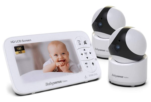 Babysense Video Baby Monitor with Camera and Audio, Two HD Cameras with Remote