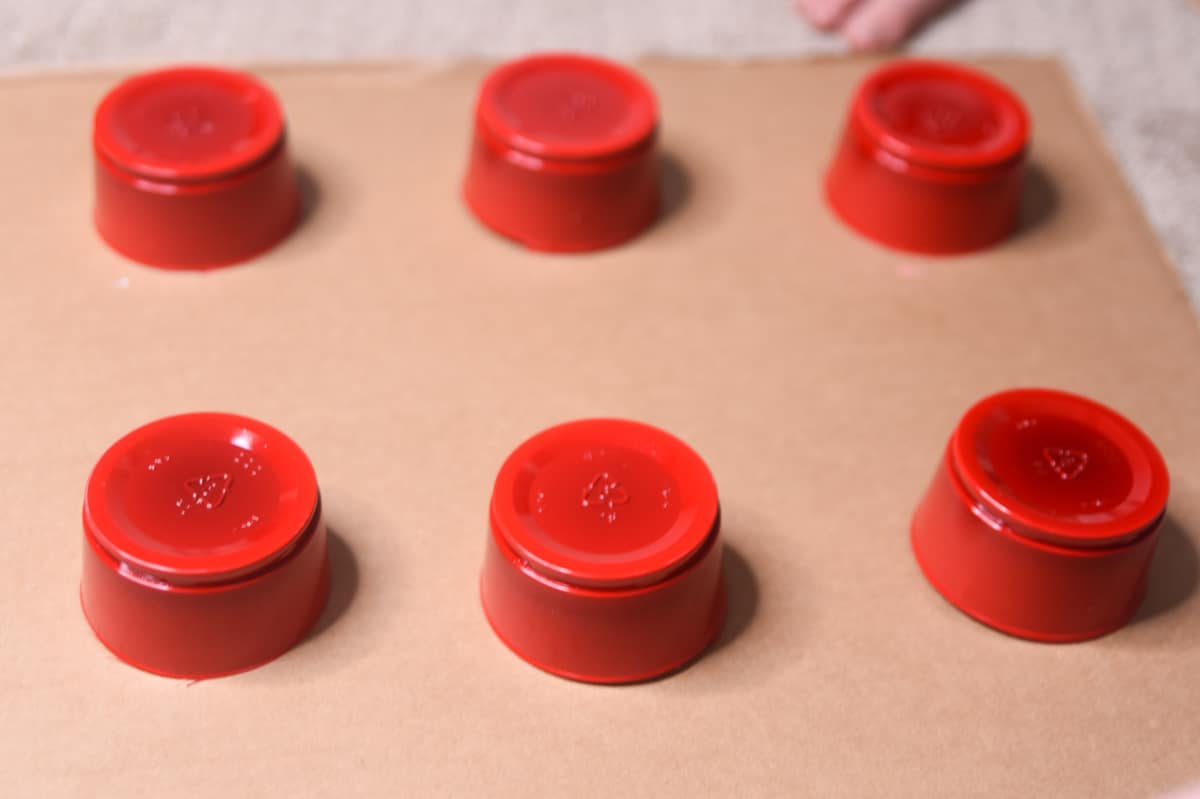 plastic cups for lego pieces