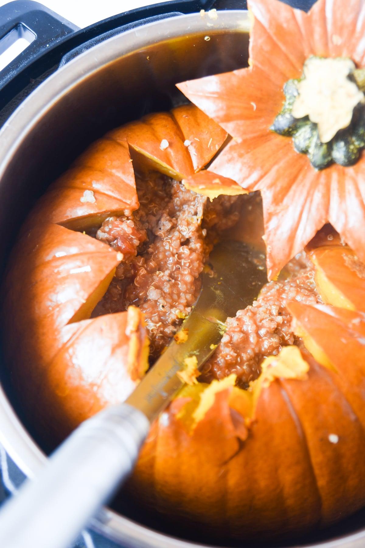 pumpkin inside instant pot