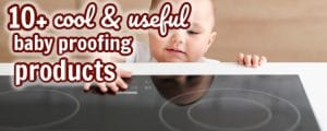 baby proofing baby touching stove