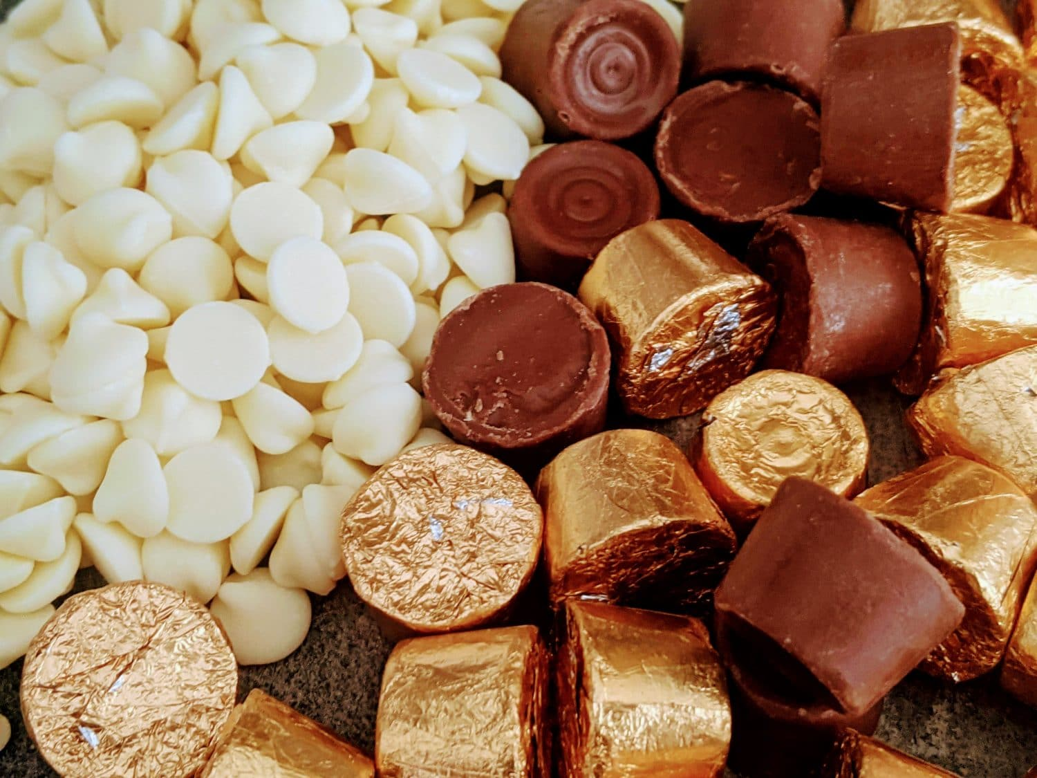 rolo candies with white chocolate