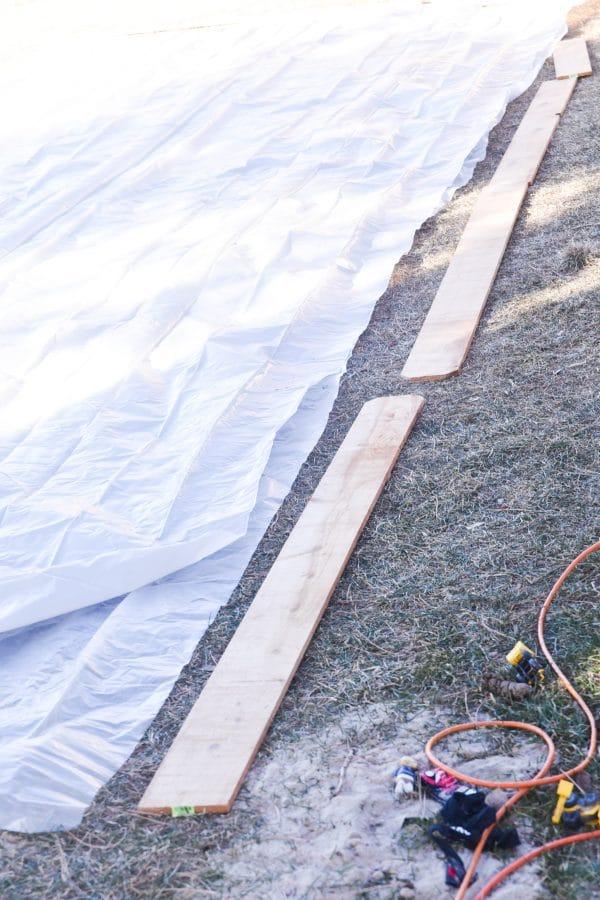 wood slats for backyard ice rink