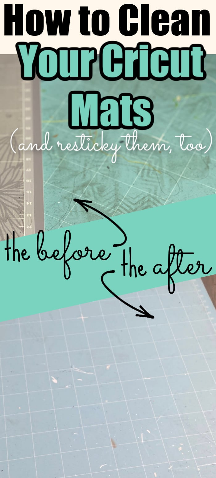 Cricut mats can get dirty so easily and lose their stickiness. However, just because they get dirty doesn't mean you need to throw them out. Here are the best tips and tricks for Cricut mat cleaning to help you get even more life out of your mats, as well as how to resticky your mats! via @clarkscondensed