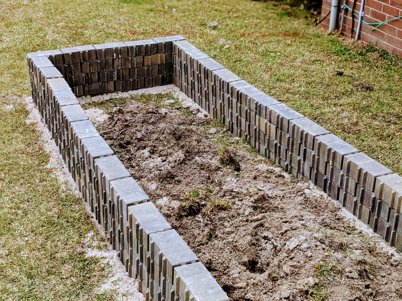 bricks for garden bed