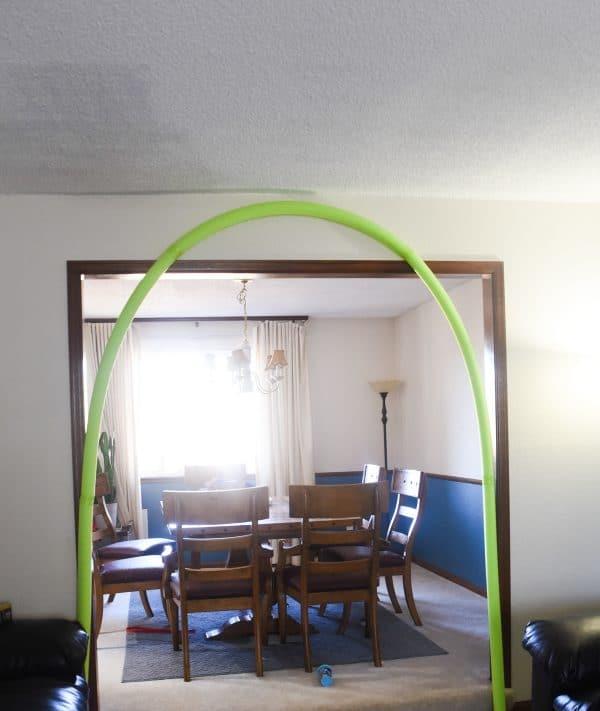 pool noodle arch