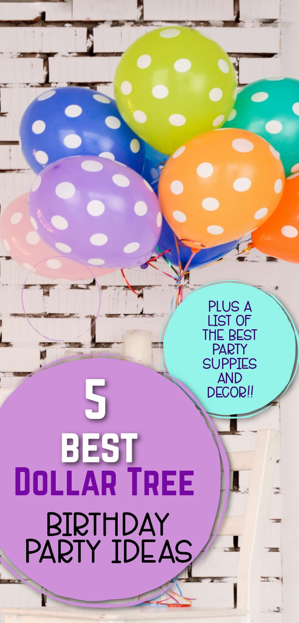 There's no shame in planning a birthday party on a budget! You can find everything you need for your next party at The Dollar Tree. From decorations to party supplies here is everything you need to make your party a success! via @clarkscondensed