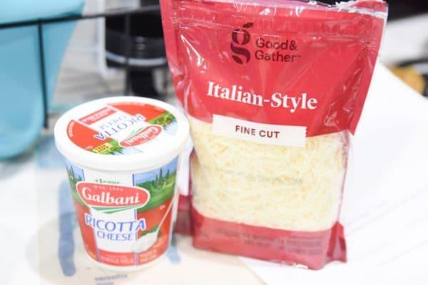 ricotta and italian style cheese