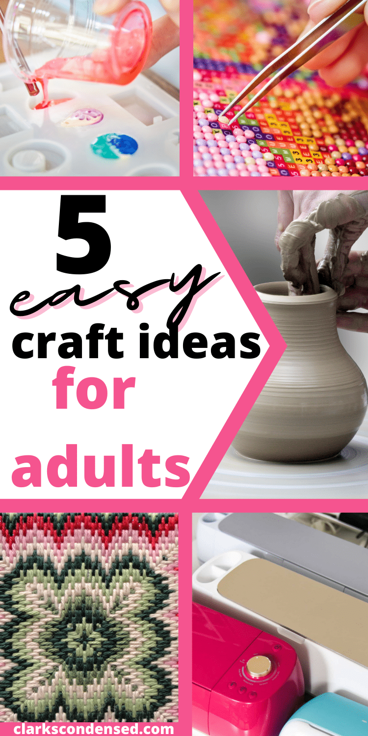 Many adults find themselves with a lot of time on their hands during the day. We are always busy with work, kids and other responsibilities so we may not have the opportunity to make crafts as often as we would like. You don't need hours in your hand to create something you can feel proud of! In this blog post, you will learn some easy craft ideas for adults that anyone can do even if they only have 10-15 minutes at a time. via @clarkscondensed