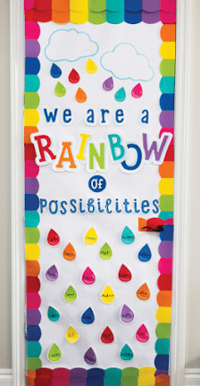 rainbow door