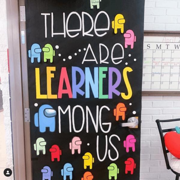 among us classroom door