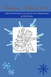 christmas activity mat