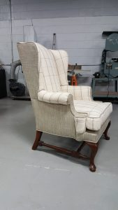 Custom Upholstered Wingback | Commissioned