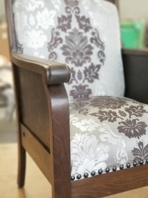 Custom Antique Library Chair   Lanford Family