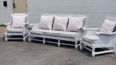 Reupholstered / Painted Indoor Patio Furniture   SPEC