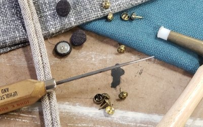 Upholstery Workshop: Tufting, Welting, & Decorative Nailheads