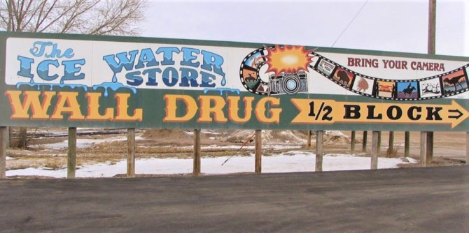 Wall Drug Store Sign Wall South Dakota