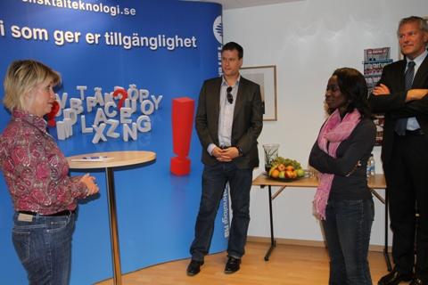 Nyamko Sabuni visits Svensk Talteknologi