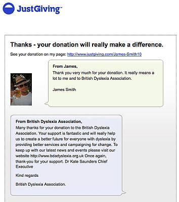 Raising money for the BDA