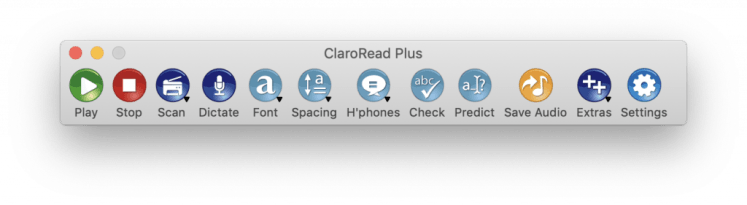 ClaroRead Mac 7 Toolbar